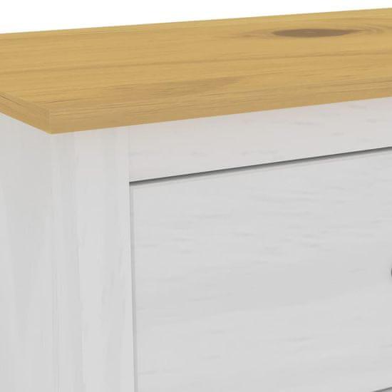 shumee Komoda Hill Range, biała, 125x40x80 cm, lite drewno sosnowe