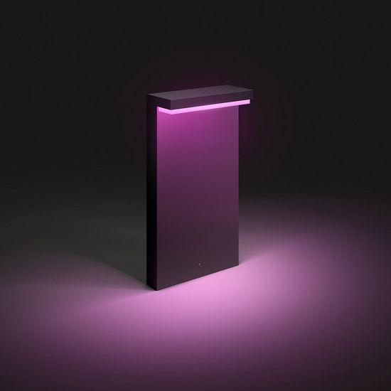 Philips HUE Nyro zunanja svetilka, pokončna, LED, RGBW, 13,5 W, 1000 lm, 2000–6500 K, IP44, črna