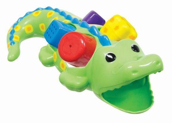 Sassy Crocodile s kockami, 12m +