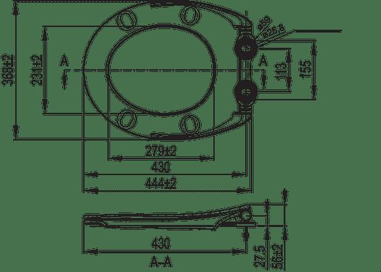 Liv Aquarius S WC deska (1409268301)