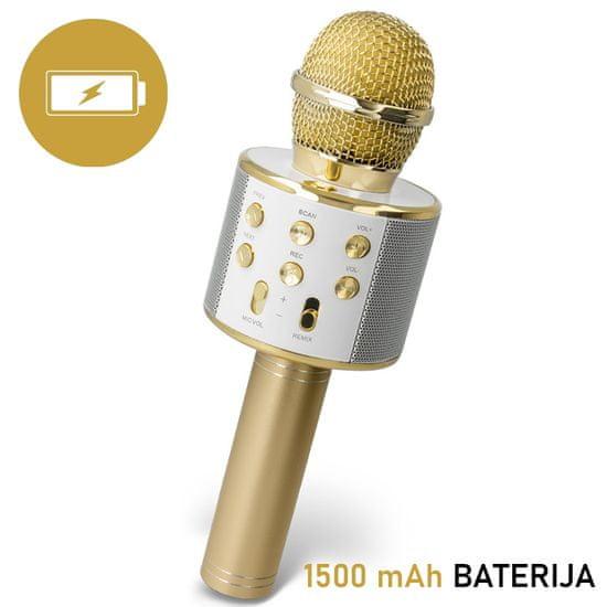 Forever BMS-300 mikrofon z zvočnikom, zlat - Odprta embalaža