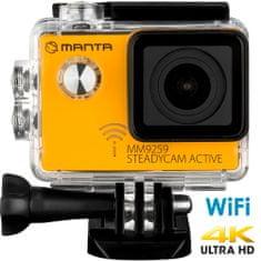 Manta MM9259 Steadycam Active, 4K-UHD aktivna športna kamera, SONY senzor + stabilizator