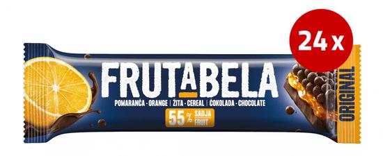 Fructal Frutabela rezina, čokolada-pomaranča, 24 x 25 g