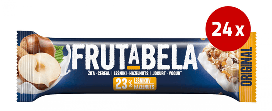 Fructal Frutabela rezina, lešniki, 24 x 30 g