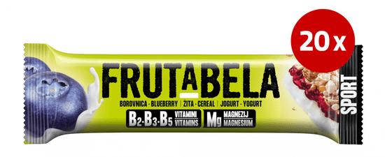 Fructal Frutabela rezina, borovnica, 20 x 44 g