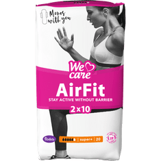 Violeta We Care Air Fit higienski vložki, super+, 20 kosov