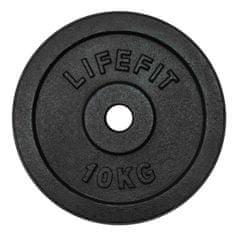 LIFEFIT LifeFit utež, črna, 10 kg
