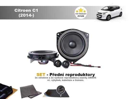 Awave SET - přední reproduktory do Citroen C1 (2014-) - Awave AWT650C