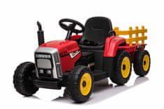 Beneo Elektrický Traktor Workers s vlečkou, Pohon zadních kol, 12V baterie, 2,4 GHz Dálkový ovladač, USB