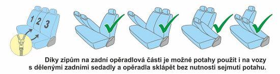 Car trend Potahy SPEED černo-modré 11 ks