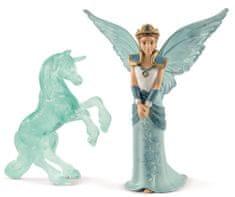 Schleich víla Eyela s jednorožcem ledová socha 70587
