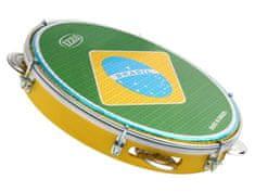 "Izzo 3438 Pandeiro 10"" ABS Brazilian Flag"