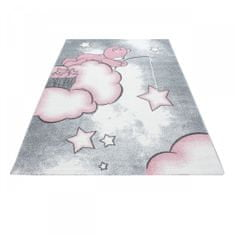 Jutex Detský koberec Playtime 0580A ružový 2.30 x 1.60