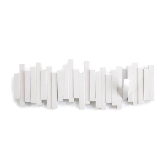 shumee Stojalo za plašče s 5 ročaji, belo, PALICE