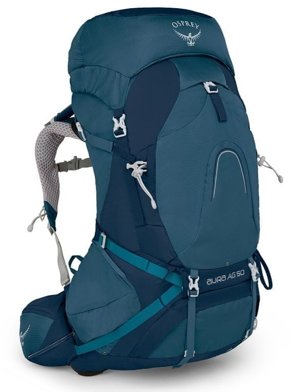 Osprey Aura AG batoh, modrá, 50 l, WM