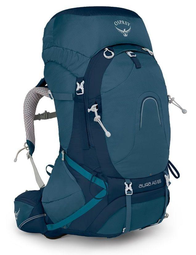 Osprey Aura AG batoh, modrá 65 l, WM