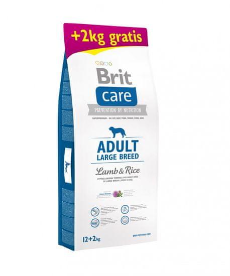 Brit Care Adult Large Breed briketi, z jagnjetino in rižem, 12 + 2 kg