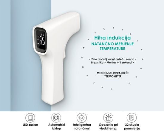 Alicn Medical Shenzen AET-R1B1 termometer, IR, brezstični
