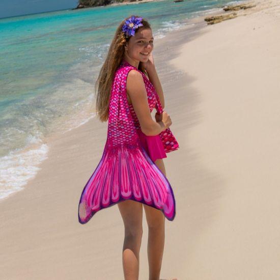 Fin Fun Kostým mořská panna MALIBU PINK s ploutví