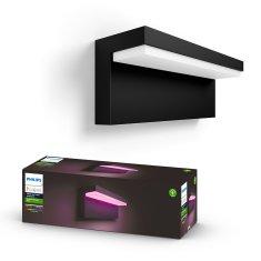 Philips HUE Nyro zunanja svetilka, stenska, LED, RGBW, 13,5 W, 1200 lm, 2000–6500 K, IP44, črna