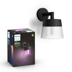 PHILIPS HUE Attract kültéri fali lámpa LED RGBW 8W 600lm 2000-6500K IP44, fekete