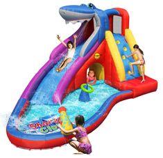 Happy Hop Vodní skluzavka s bazénkem, skákací hrad Sharks Club