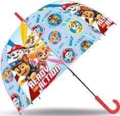 EUROSWAN Deštník Paw Patrol transparentní automatický 72cm