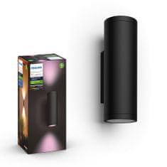 Philips HUE Appear zunanja svetilka, stenska, LED, RGBW, 2x 8 W, 1200 lm, IP44, črna