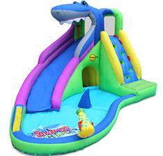 Happy Hop Sharks Club vodní skluzavka s bazénkem, skákací hrad