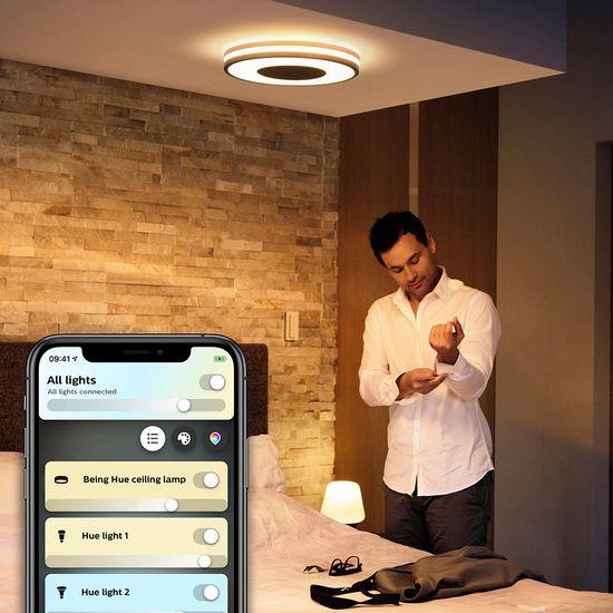 Philips Hue Being SVIETIDLO STROPNÉ LED 32W 2400L 2200-6500K, čierna BT