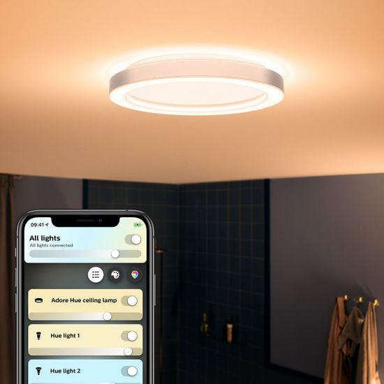 Philips Hue Adore SVIETIDLO STROPNÉ LED 40 W 2400 lm 2200 - 6500 K IP44, lesk. chróm BT
