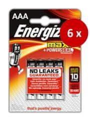 Energizer Max alkalna baterija AAA (LR03), 24 kosov