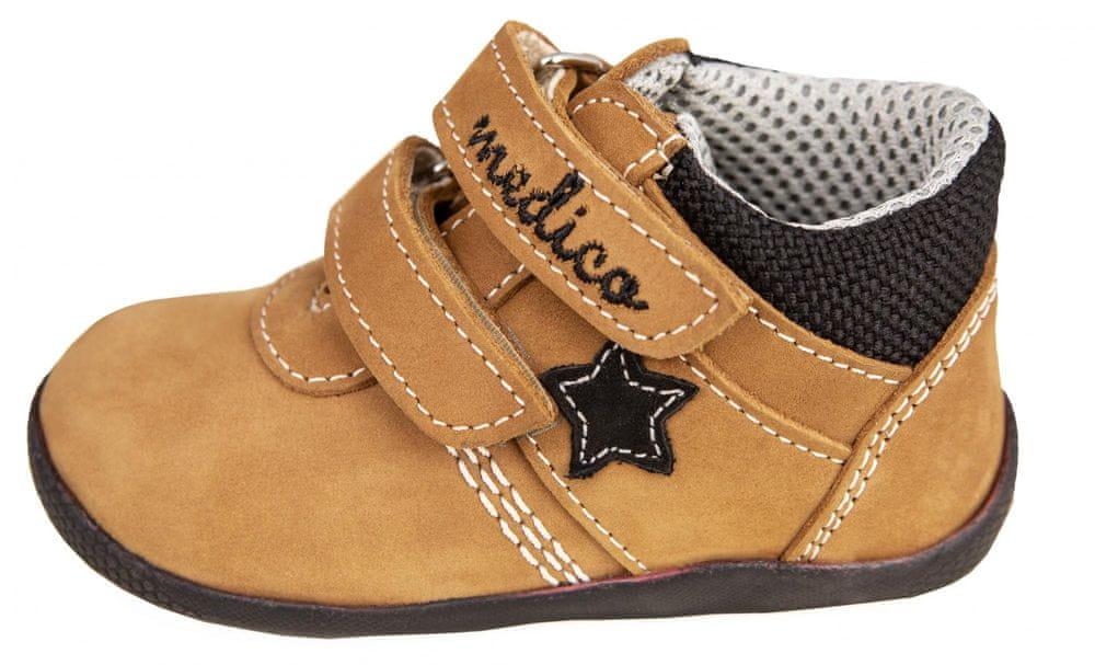 Medico dětská kožená kotníčková obuv EX5001-M149 22 hnědá