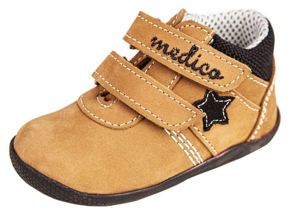 Medico dětská kožená kotníčková obuv EX5001-M149 24 hnědá