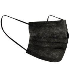 Baideren Jednorázová ochranná maska na obličej 2balení=10ks Černá
