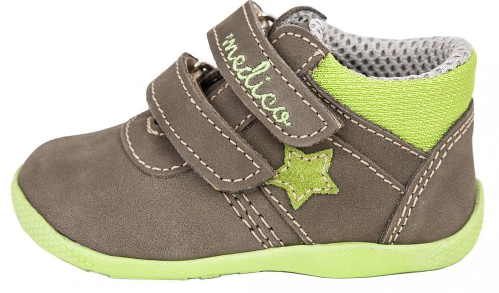 Medico dětská kožená kotníčková obuv EX5001-M150 24 hnědá