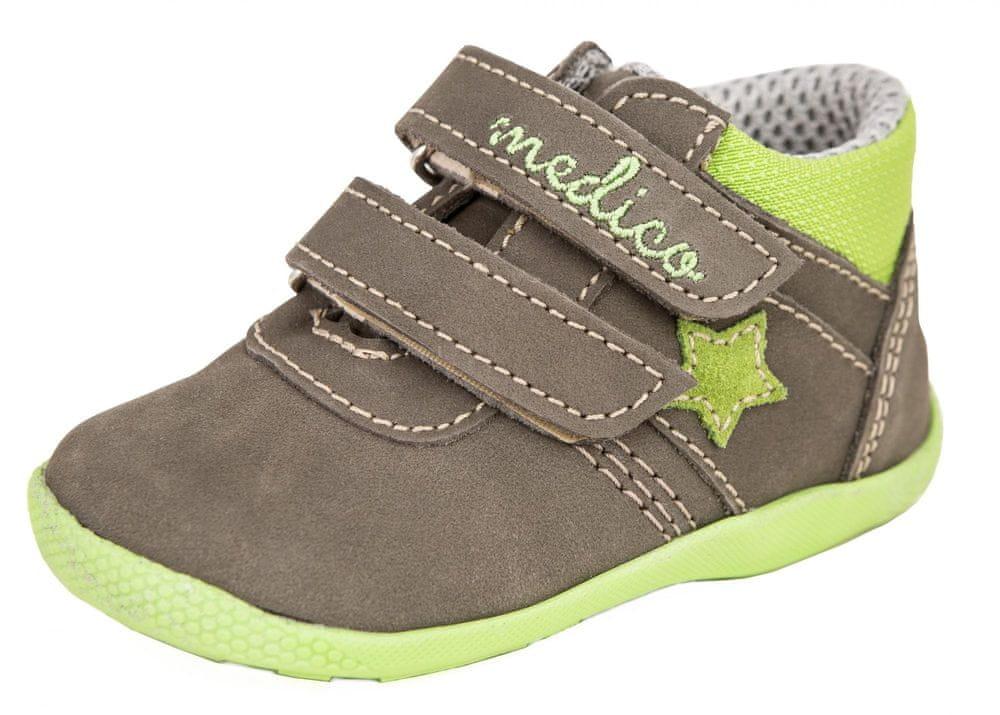 Medico dětská kožená kotníčková obuv EX5001-M150 21 hnědá