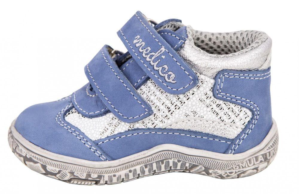 Medico dětská kožená kotníčková obuv EX4984-M118 24 modrá