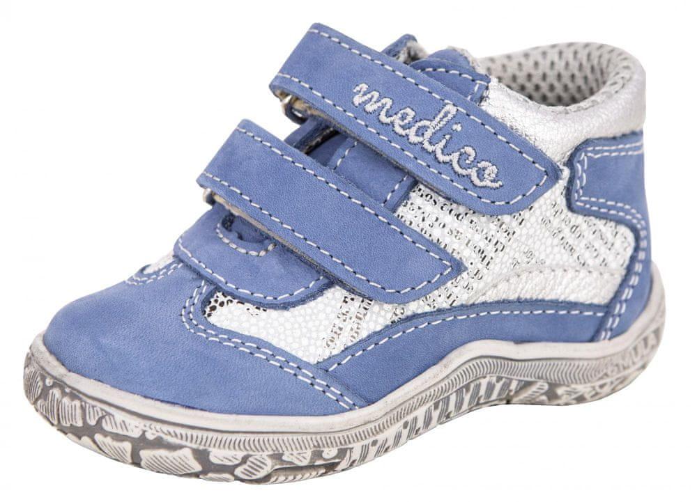 Medico dětská kožená kotníčková obuv EX4984-M118 26 modrá