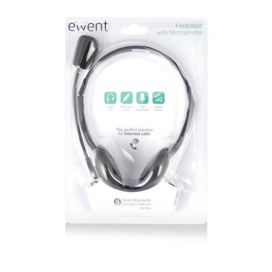 Ewent EW3563 slušalke, črne