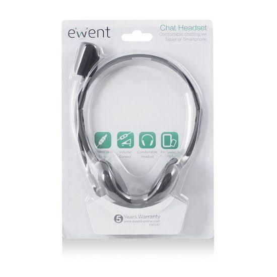 Ewent EW3567 slušalice, crne
