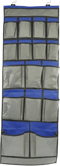 Car trend Organizér závěsný 123 cm x 47 cm modro-ěedý