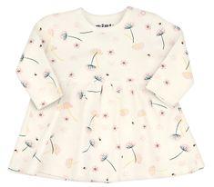 Nini dievčenské šaty z organickej bavlny ABN-2287 80 smotanová