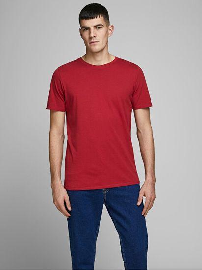 Jack&Jones JJEORGANIC BASIC TEE moška majica 12156101 Rio Red SLIM