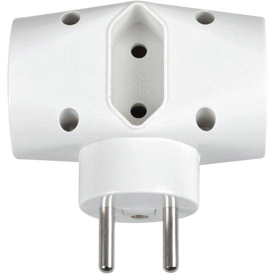 SENCOR SPC 62 rozbočka 1× 2,5 A + 2× 16 A / 250 V