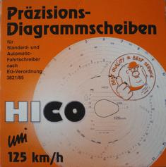 BORG HICO Borg Hico Kotoučky tachografu 125 UNI