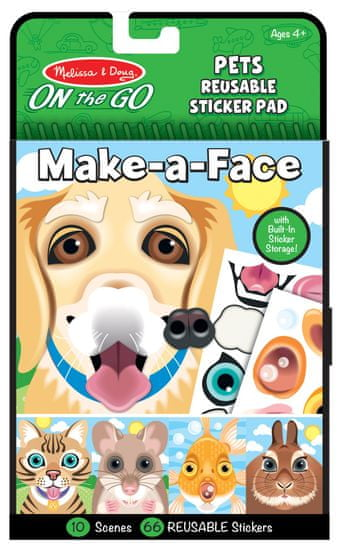 Melissa & Doug Stwórz twarz - Zwierzęta domowe