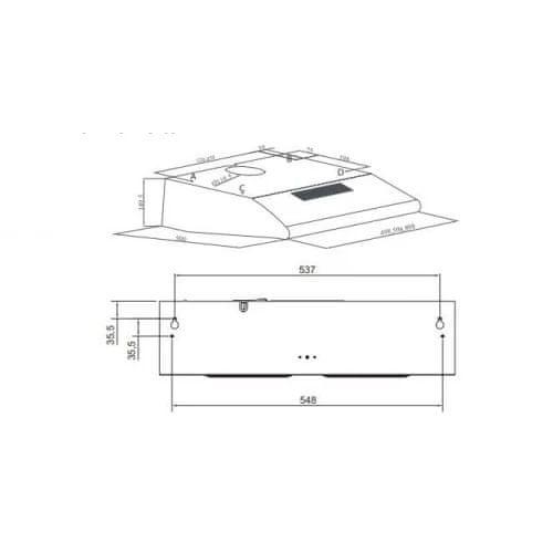 VOX electronics TRD 650 IX kuhinjska napa