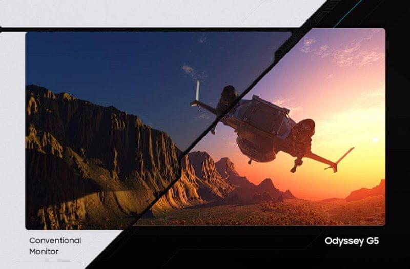 monitor Samsung Odyssey G5 (LC27G55TQWUXEN) HDR10 250 svetilnost visok dinamični razpon