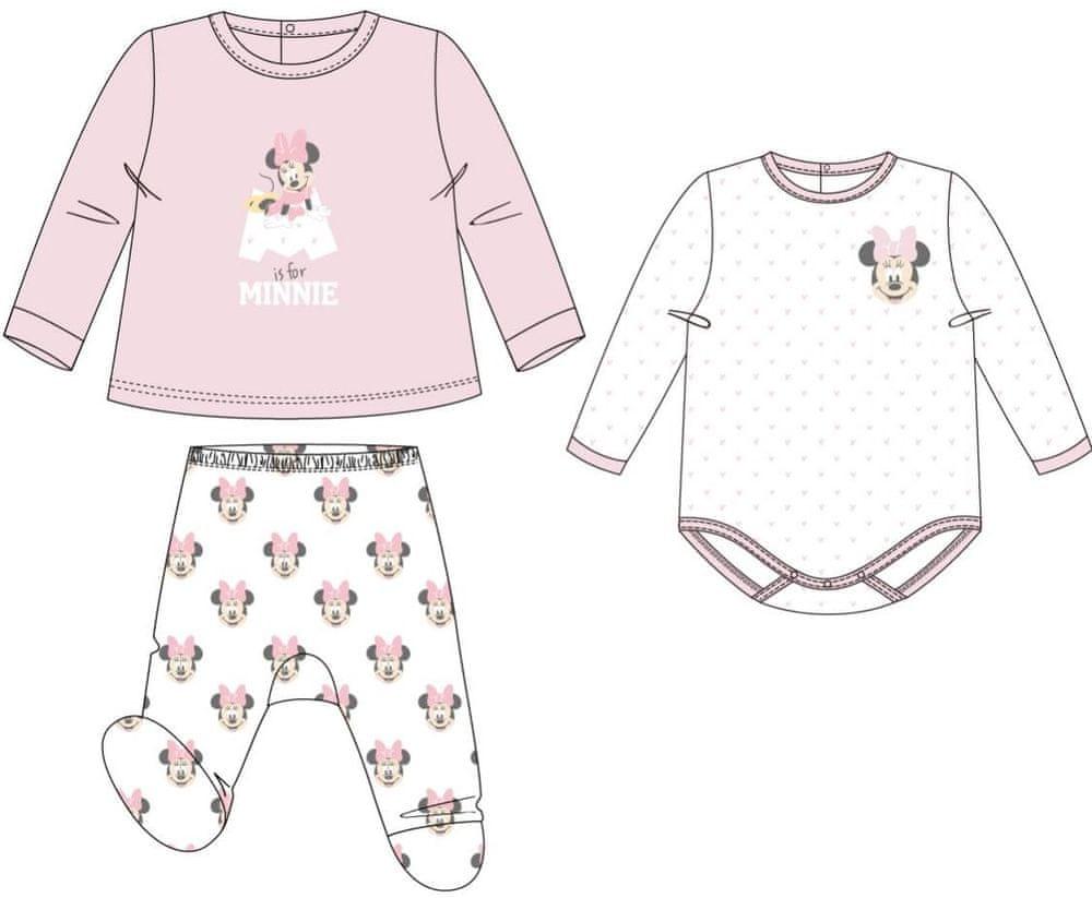 Disney dívčí set Minnie Mouse bílá/růžová 0-3 měsíce